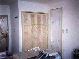 室内の光触媒施工例1