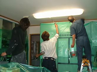 室内の光触媒施工例2